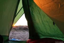 Tent-view Sunrise
