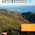 Gaviota Peak on the cover the 2012 annual report by the Santa Barbara Trail Council